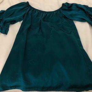 Off shoulder Voom by Joy Han dress